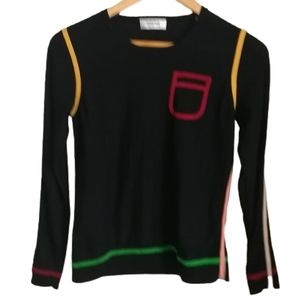 SONIA RYKIEL Thin Knit Strippes Crewneck Sweater